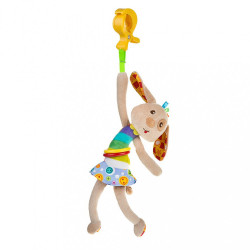 Detská plyšová hračka s vibráciou Akuku psík hnedá