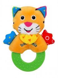 Detská plyšová hrkálka Baby Mix tiger Žltá