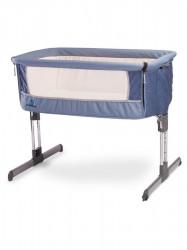 Detská postieľka CARETERO Sleep2gether navy modrá