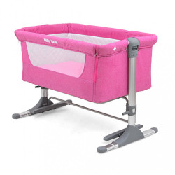 Detská postieľka Milly Mally Side by Side pink ružová