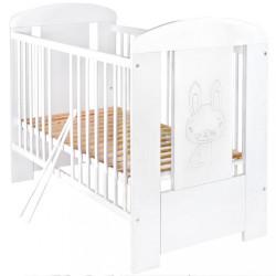 Detská postieľka New Baby Králiček so sťahovacou bočnicou biela #1
