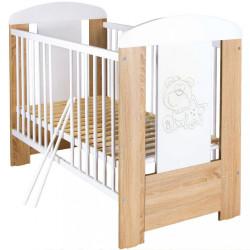 Detská postieľka New Baby Medvedík s hviezdičkou so sťahovacou bočnicou dub dub Riviera #1
