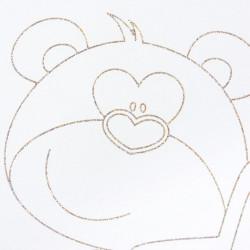 Detská postieľka New Baby Medvedík s hviezdičkou so sťahovacou bočnicou dub dub Riviera #2