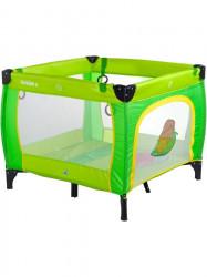 Detská skladacia ohrádka CARETERO Quadra green zelená