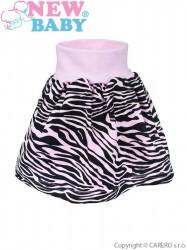 Detská suknička New Baby Zebra ružová