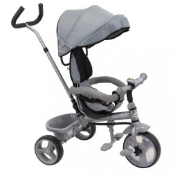 Detská trojkolka Baby Mix Ecotrike s bezpečnostnými pásmi grey sivá