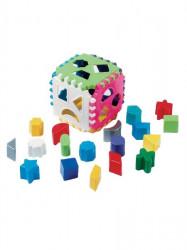 Detská vkladacia kocka podľa obrázku