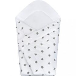 Detská zavinovačka New Baby sivé hviezdičky biela