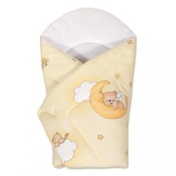 Detská zavinovačka New Baby žltá s medvedíkom