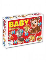Detské Baby puzzle Červená