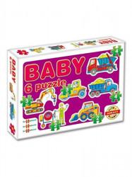 Detské Baby puzzle fialová