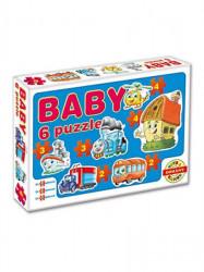 Detské Baby puzzle modrá