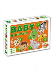 Detské Baby puzzle oranžová