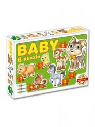 Detské Baby puzzle zelená