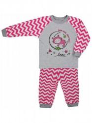Detské bavlnené pyžamo Koala Cik-Cak ružové