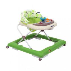 Detské chodítko Baby Mix green-beige zelená