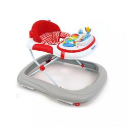 Detské chodítko Baby Mix so silikónovými kolieskami grey-red multicolor