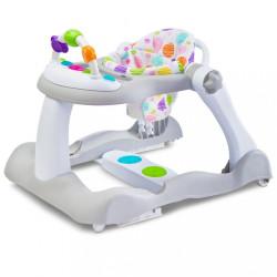 Detské chodítko Bounce 3v1 Toyz sivá