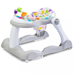 Detské chodítko Footsie 2v1 Toyz sivá