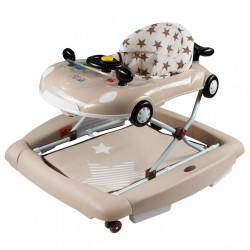 Detské chodítko s hojdačkou New Baby Little Racing Car béžová