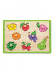 Detské drevené puzzle s úchytmi Viga Ovocie multicolor