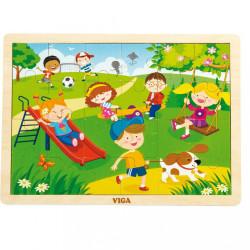 Detské drevené puzzle Viga Jar multicolor