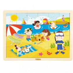 Detské drevené puzzle Viga Leto multicolor