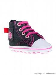 Detské džínsové capáčky Bobo Baby 6-12m ružové