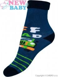 Detské froté ponožky New Baby modré off road