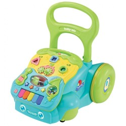 Detské hrajúce edukačné chodítko Baby Mix modré