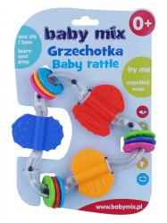 Detské hrkálka Baby Mix farebný trojuholník podľa obrázku