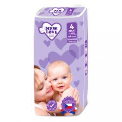Detské jednorázové plienky New Love 4 MAXI 7-18 kg 44 ks biela