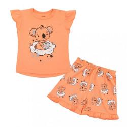 Detské letné pyžamko New Baby Dream lososové podľa obrázku
