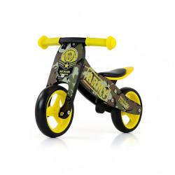 Detské multifunkčné odrážadlo bicykel Milly Mally JAKE Army zelená