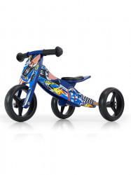 Detské multifunkčné odrážadlo bicykel Milly Mally JAKE blue modrá