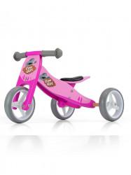 Detské multifunkčné odrážadlo bicykel Milly Mally JAKE pink Cowgirl ružová