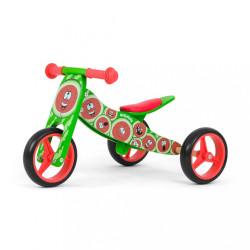 Detské multifunkčné odrážadlo bicykel Milly Mally JAKE watemelon zelená
