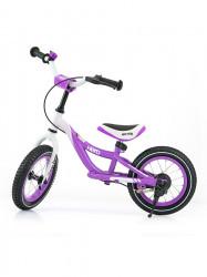 Detské odrážadlo bicykel Milly Mally Hero purple fialová