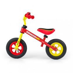 Detské odrážadlo kolo Milly Mally Dragon Air yellow-red podľa obrázku