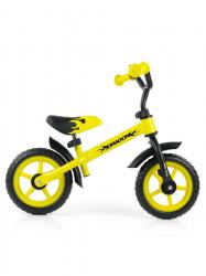 Detské odrážadlo kolo Milly Mally Dragon yellow Žltá