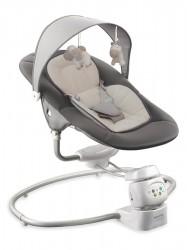 Detské otočné ležadlo 2v1 Baby Mix dark grey sivá