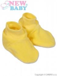 Detské papučky New Baby žlté