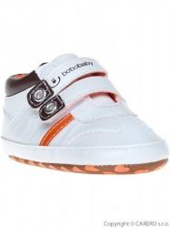 Detské topánočky Bobo Baby  12-18m bielo-tmavo-hnedé