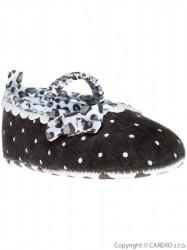 Detské topánočky Bobo Baby 12-18m hnedo-sivé s mašličkou