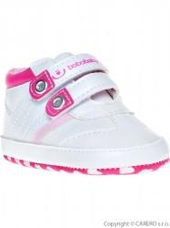 Detské topánočky Bobo Baby 6-12m bielo-ružové