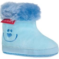 Detské zimné capáčky Bobo Baby 12-18m modré smile