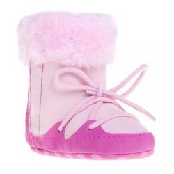 Detské zimné capáčky Bobo Baby 3-6m ružové