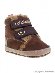 Detské zimné capáčky Bobo Baby 3-6m tmavo hnedé