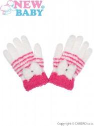 Detské zimné froté rukavičky New Baby bielé