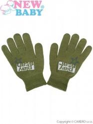 Detské zimné rukavičky New Baby Boys olivové zelená